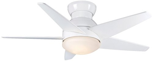 "44"" Casablanca Isotope Snow White Hugger Ceiling Fan"