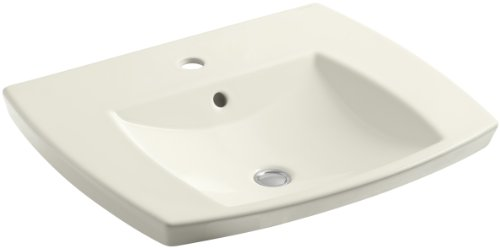 Kohler K-2381-1-96 Kelston Self-Rimming Lavatory with Single-Hole Faucet Drilling, Biscuit