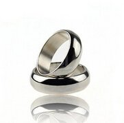 Pisces.goods Pro Magic Strong Magnetic Ring Magnet Coin Finger Magic Tricks Props Show, Color Silver