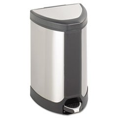 Stainless Step-On Trash Can, 7 Gallon 7