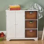 Cheap Southern Enterprises White Sideboard w/ Wicker Drawers (B002LUI2M0)