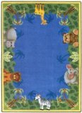 Joy Carpets Kid Essentials Infants & Toddlers Round Jungle Friends Rug, Multicolored, 7'7""