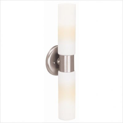 Access Lighting 20442-BS/OPL Aqueous 2-Light ADA Wall Fixture, Brushed Steel Finish with Opal Glass Shade