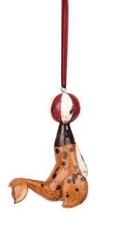 Creative Co-op Circus Animal Ornament, Choice of Styles (seal)