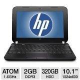 """HP Mini 1104 10.1"""" LED-Backlit Netbook (Intel Atom N2600 1.60 GHz Processor, 2GB DDR3 RAM, 320GB HDD, Bluetooth 3.0, Windows 7 Professional)"""
