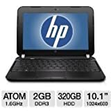 "HP Mini 1104 10.1"" LED-Backlit Netbook (Intel Atom N2600 1.60 GHz Processor, 2GB DDR3 RAM, 320GB HDD, Bluetooth 3.0, Windows 7 Professional)"