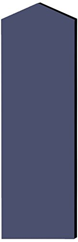 Salsbury Industries 33346Blu Double End Side Panel For 21-Inch Deep Designer Wood Locker With Sloping Hood, Blue front-487771