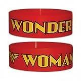 Wonder Woman Logo Red Rubber Wristband - 65Mm Diameter X 25Mm High