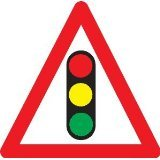 Reflective Road Traffic Sign - Traffic Lights (3mm aluminium) 600mm high - For wall mounting