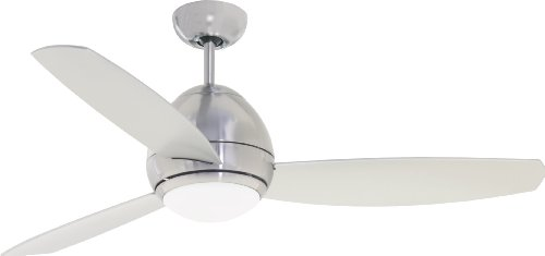 Emerson Cf244Bs Curva Indoor/Outdoor Ceiling Fan, 44-Inch Blade Span, Brushed Steel Finish