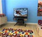 Cheap Atlantic Soho 37″ TV Stand – Black Metallic with Carbon Fiber (B006RGHHTS)