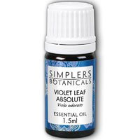 Essential Oil Violet Leaf Absolute Simplers Botanicals 1.5 ml Liquid