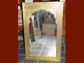 int. d'ailleurs - Mirror ark wood and brass - MIR016