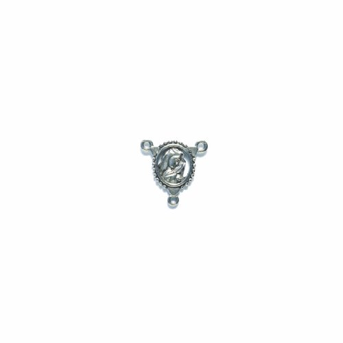 Shipwreck Beads Pewter Beads Rosary Center, Metallic, Silver, 19 by 19mm, 4-Pack (Rosary Centers compare prices)