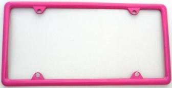 Hot Pink Slimline Metal License Plate Frame (Hot Pink Truck Accessories compare prices)