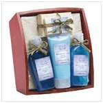 Lavender Sage Scent Scented Spa Bath Beauty Set Tray