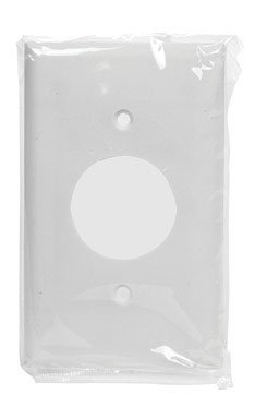 Cooper 2131W Electrical Wall Plate, Standard Size Thermoset Single Receptacle Wall Plate, 1-Gang - White