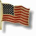 American Flag Lapel Pin 14k Gold