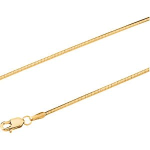 14K Yellow Gold Snake Chain - 16 inches
