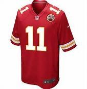 Kansas City Chiefs Alex Smith Jersey Red Youth Size Large by Player