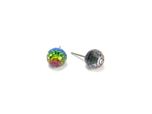 Vitrail Medium Faceted Ball Swarovski Austrian Crystal Earrings, 8mm