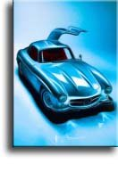 "Completely Handpainted Car Painting - AUTO1846 Custom Order, Oil on Canvas, Realistic Style, with Option to Paint from Any Other Favorite Photograph or Picture, Unframed, Size 18"" x 24"" inch"