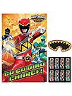 Amscan Power Rangers Dino Charge Birthday Party Game (4 Piece), Multi