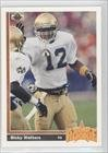 Ricky Watters 1991 Upper Deck Football Rookie Card # 9 - Notre Dame