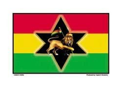 Richard Biffle - Rasta Lion Flag - Sticker / Decal