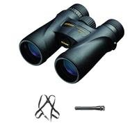 Nikon 8X42 Monarch 5 Water Proof Roof Prism Binocular Bundle With Free Binocular Harness And Maglite Mini Flashlight