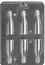 3-D Small Champagne or Wine Bottle Candy Mold
