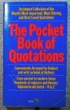 The Pocket Book of Quotations, Davidoff,Henry