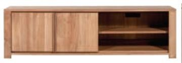 Teca lodge tv armario - 2 puertas