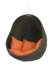 Urban Balance Cove Outdoor Hanging Chair with 5 Pillows, Mandarin (Discontinued by Manufacturer)