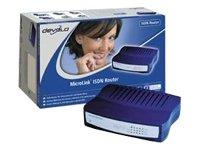 Devolo MicroLink ISDN Router - Routeur + commutateur 4 ports - RNIS - Ethernet, Fast Ethernet, HDLC, PPP - externe
