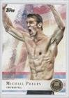 Michael Phelps (Trading Card) 2012 Topps U.S. Olympic Team and Olympic Hopefuls Gold #100