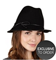 Twiggy for M&S Collection Pure Wool Wide Brim Trilby Hat