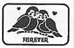 Forever Birdies Sweet Greeting White Chocolate Card (Gourmet,Exquisite Fine Candy & Gifts,Gourmet Food,Chocolate,White Chocolate)