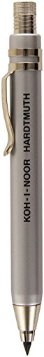 1-x-koh-i-noor-silver-all-metal-lead-holder-with-sharpener-5358