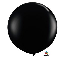 Onyx Black 3' Qualatex Decorative Party Balloon Three Foot Latex 36""