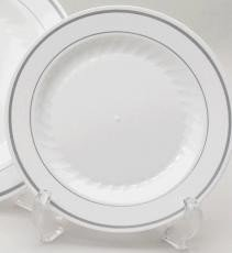 """Masterpiece 6"""" Silver Band Small Dessert Plate-75 Pack"""