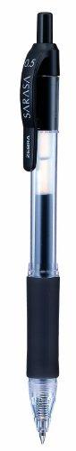 Zebra Sarasa - Paquete de 12 bolígrafos de tinta gel, negro