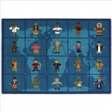 """Joy Carpets Kid Essentials Early Childhood Reach Across The World Rug, Multicolored, 7'8"""" x 10'9"""""""
