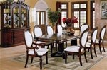 Wynn 9 Piece Table Set in Rich Cherry Finish by Coaster - 101161A