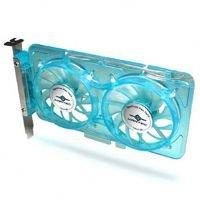 Vantec SP-FC70-BL Spectrum System Fan Card with Dual Adjustable 70mm UV LED Fans (Blue)