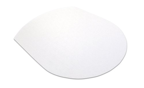 UltiMat PolyCarbonate Chair Mat smooth back for Use On Hard Floor Surfaces (Contoured Shape 99cm x 125cm)