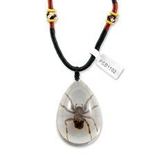 REALBUG Spider Necklace, Clear, Large