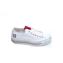 D.A.T.E. sneakers in tela ROCKET CANVAS WHITE - White, EUR 40