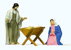 THE HOLY FAMILY - PREISER HO SCALE MODEL TRAIN FIGURES 29091