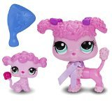 Littlest Pet Shop Figures Poodle and Baby Poodle - 1